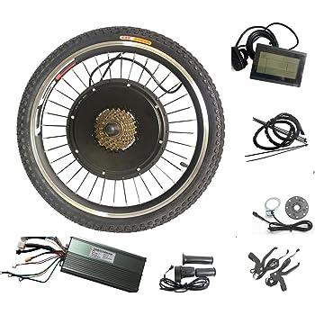 WENHU Kit de conversión de Bicicleta eléctrica de 24 Pulgadas y ...
