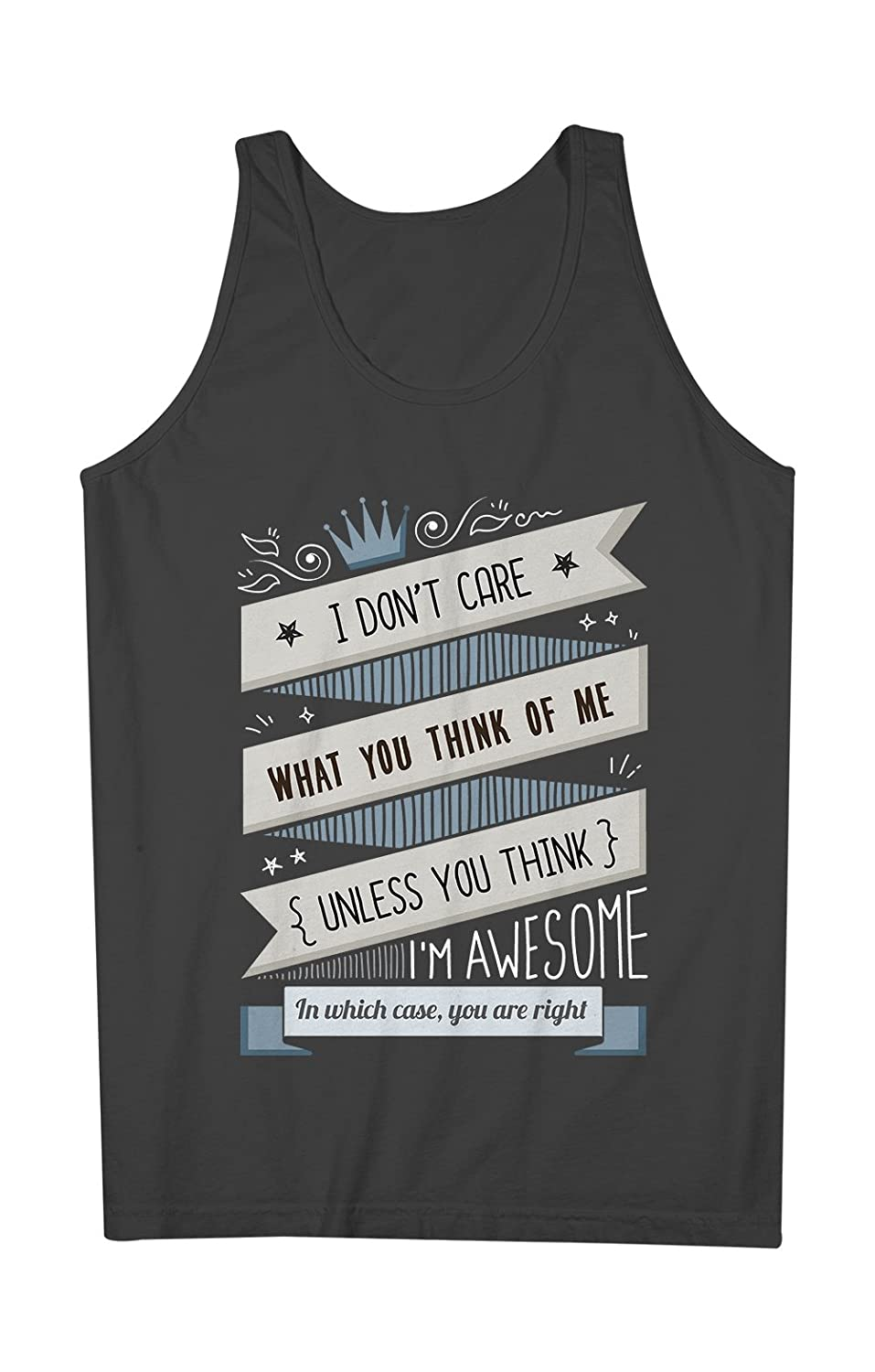 I Don't Care What You Think Of Me 皮肉な おかしいです 男性用 Tank Top Sleeveless Shirt