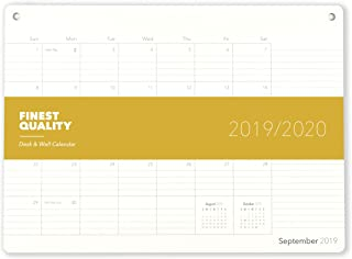 Elegant Desk Calendar · 18 Months · January 2019 - June 2020 · 17.8