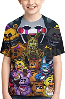 FNAF Boy T-Shirt Game Tee Anime Cartoon Print Tee Youth Fashion Tops T-Shirts for Boys Girls Kids