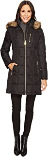MICHAEL Michael Kors Womens Zip Front Down with Faux Fur Trim Hood M821883T
