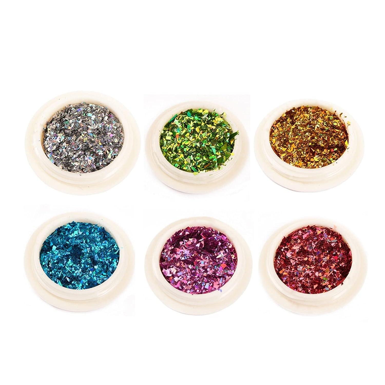 Premium 6 Box Holographic Nail Mirr Choice Shell Purchase Flakes Glitter Mermaid