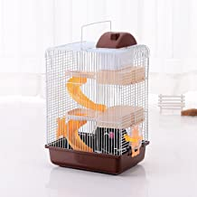 JTENGYAO Hamster Mouse Luxury castle Hamster Cage For Small Indoor Pet House Small Animal House DIY 3 Floor Cages 10.6x8.3x17.3 Inch