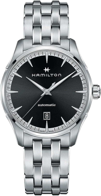 Hamilton Jazzmaster H32475130 Reloj automático con esfera negra para hombre
