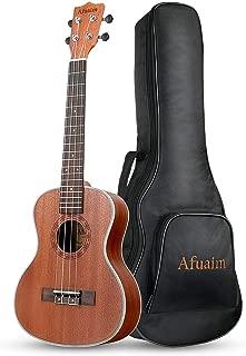 Afuaim Concert Ukulele 21 inch Sapele Hawaiian Ukele with Ukulele Case and Ukele String Set
