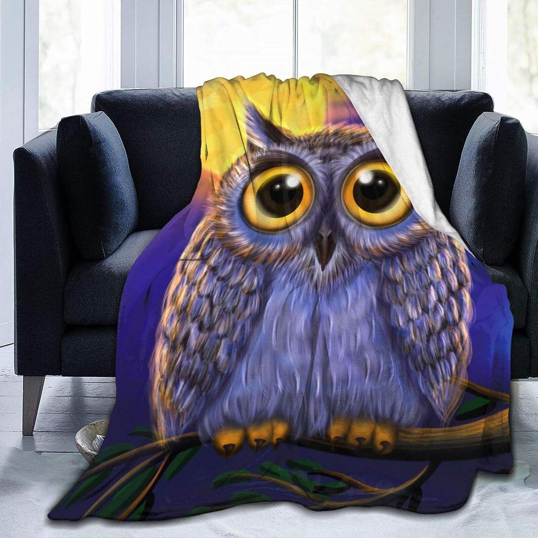 Belgala Blanket Cute Wild Owl Fleece Bl Ranking Seattle Mall TOP20 Throw Moonlights Flannel