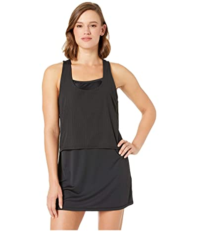 Nike Sport Mesh Reversible Layered Dress Cover-Up (Black) Women
