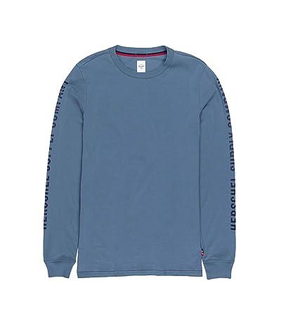 Herschel Supply Co. Sleeve Print Long Sleeve Tee (Sleeve Print Blue Mirage/Peacoat) Men