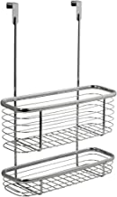 Over the Cabinet Kitchen Storage Organizer Basket 2-Tier for Aluminum Foil, Sandwich Bags, Cleaning Supplies