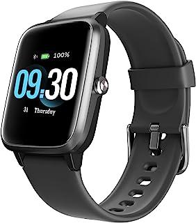 Smartwatch Hombre, Reloj Inteligente Mujer con Pulsómetro Monitor de Sueño Cronómetros Calorías Podómetro Monitores de Actividad Impermeable IP68 Reloj Deportivo con Rastreo GPS para Android iOS