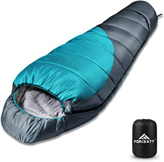 Forceatt Mummy Sleeping Bag for 3-4 Seasons,Use Temperature is 14°F-59°F, Backpacking Sleeping Bag for Adults and Kids,War...