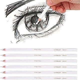 Blanc Crayon à Fusain Crayon de Charbon de Bois Blanc Esquisse Professionnelle Stylo Non-Toxique Dessin Outils Art Peintur...