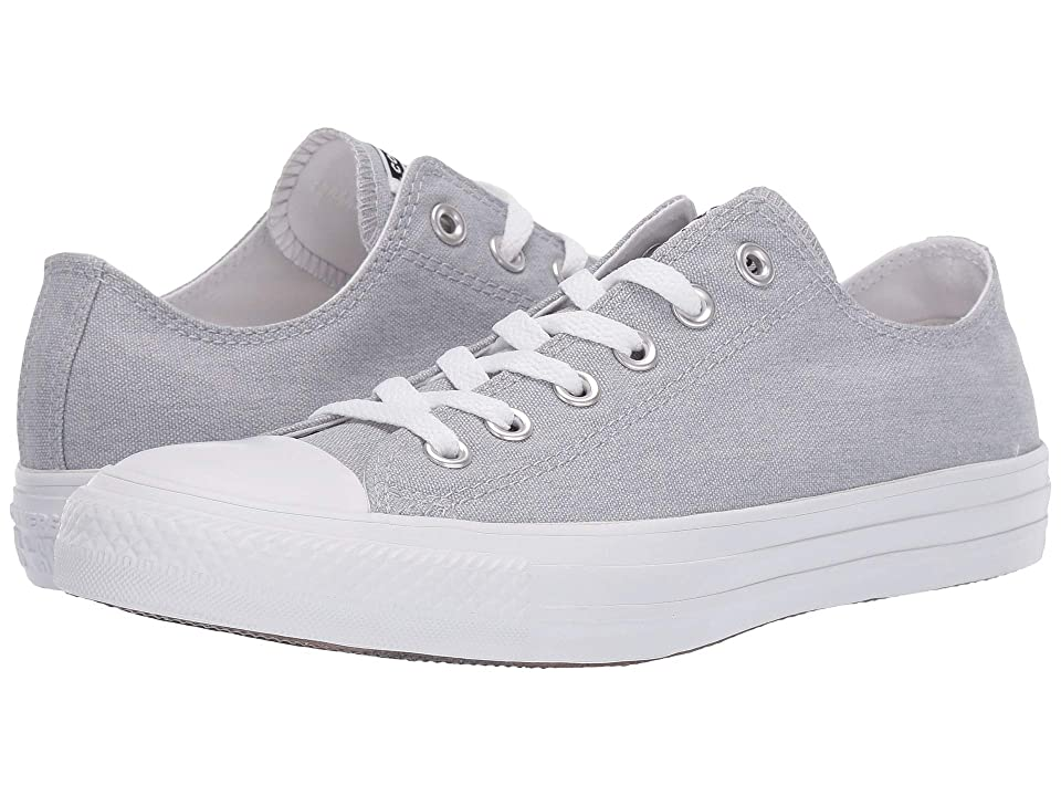 Converse Chuck Taylor(r) All Star(r) Court Fade Ox (Wolf Grey/White/White) Athletic Shoes
