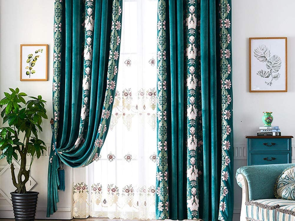 Max 81% OFF BW0057 Fresh European Vintage Style Embroidery Max 43% OFF C Window Chenille