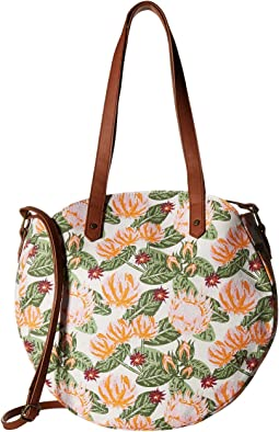 Floral Tambourine Tote
