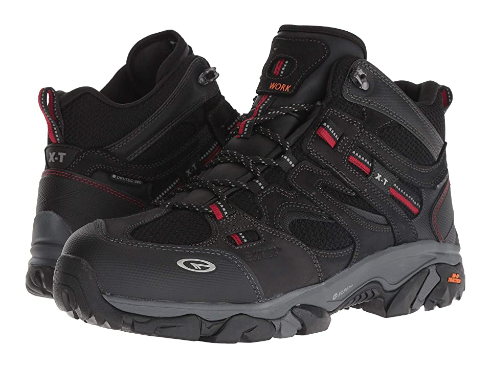 Hi-Tec X-T Boron Mid WP360 Steel Toe (Black/Red) Men