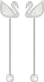 Swarovski Iconic Swan Oorbellen voor dames, kristal