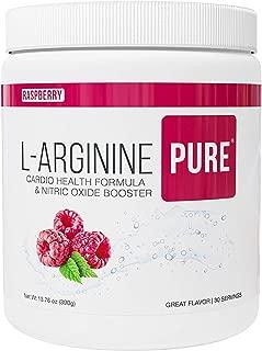L-Arginine Pure ®   Best Tasting L-arginine Drink Mix Formula for Blood Pressure, Cholesterol, Heart Health, and More Energy (13.7 oz, 390g) (Raspberry, 1 Bottle)