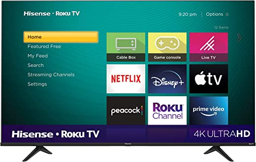 Hisense 65-Inch Class R6 Series Dolby Vision HDR 4K UHD Roku Smart TV with Alexa Compatibility (65R6G, 2021 Model)