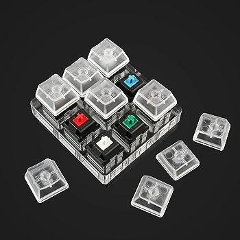 Max Keyboard Keycap, Cherry MX Switch, Tester Kit (9 switches Pro Sampler Tester Kit)