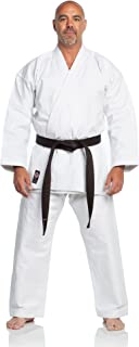 Ronin Karate Gi - Heavyweight Karate Uniform - White Professional Kimono - Advanced 100% Cotton 12oz Martial Arts Kit - Perfect for Competition or Training