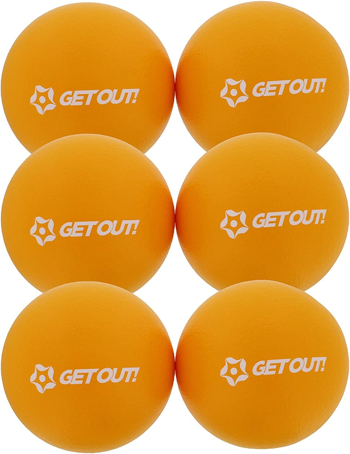 6  Inch Foam Dodgeballs 6Pack Set  Soft, Lightweight, LatexFree Sponge Playground Dodgeball Balls