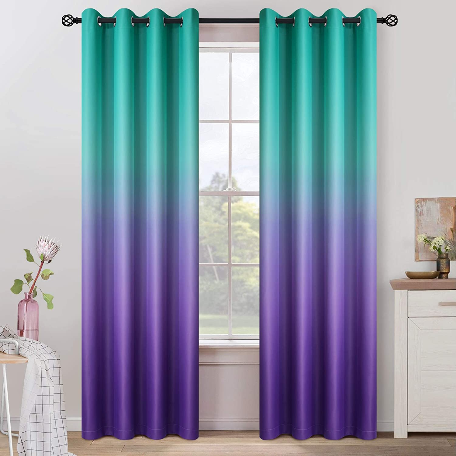 COSVIYA Grommet Ombre Room Darkening Curtains inches f Limited time trial Ranking TOP5 price 84 Length