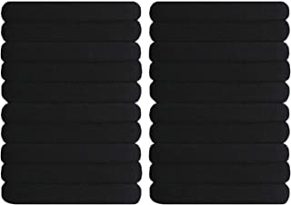 Black Hair Ties Hanmei 20 Pieces Large Seamless Ponytail Holders Headband Elastic Women Hair Bands for Thick Heavy and Curly Hair