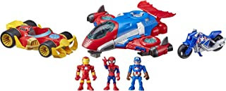 Super Hero Adventures Marvel Figure and Vehicle Multipack, 3 Action Figures and 3 Vehicles, 5-Inch Toys for Kids Ages 3 and Up