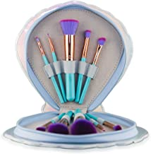 StinaFace Mermaid Vegan Professional Aqua Clam Brush Set (10 Piece Aqua Brush Set)