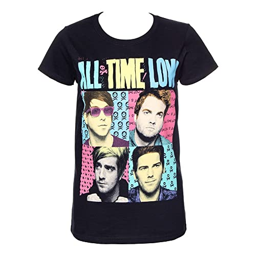Official Skinny T Shirt ALL TIME LOW Black POP ART Photo Squares All Sizes