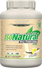 ALLMAX Nutrition Isonatural Whey Protein Isolate, Vanilla, 5 lbs