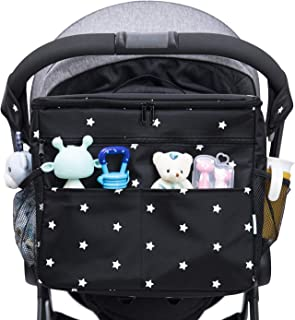 Universal Parents Diaper Organizer Bag with Stroller Attachments. Large Strollers Insulated Baby Bag. 3 Ways to Carry - Sh...