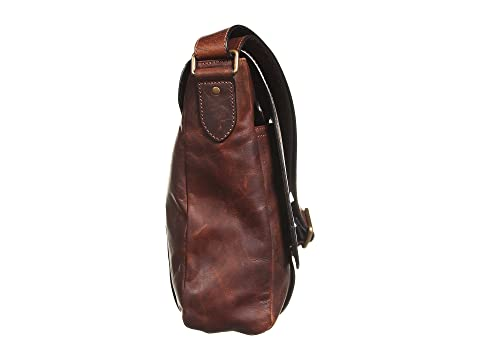 Antique Frye Up Logan Pull Dark Brown Messenger wq6ZqvUI