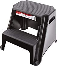 Rubbermaid RM-P2 2-Step Molded Plastic Stool with Non-Slip Step Treads 300-Pound Capacity