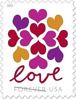 USPS Hearts Blossom Love Forever Stamps - Wedding, Celebration, Graduation (1 Sheet of 20 Stamps) 2019