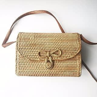 Machapuchare Women Handmade Woven Straw Bag Rattan Ata Natural Autentic Boho
