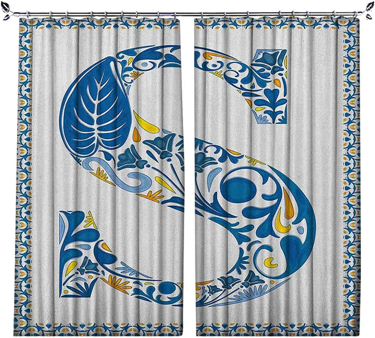 Pinch Pleat Textured Letter S Old Ultra-Cheap Deals Alphabet Curtains Import T Fashioned