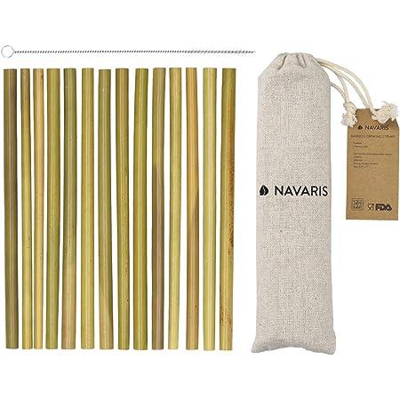 SUP Pailles r/éutilisables 22 cm bambou