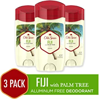 Old Spice Aluminum Free Deodorant for Men, Fiji with Palm Tree Scent, 3.0 Ounce, 3 Count