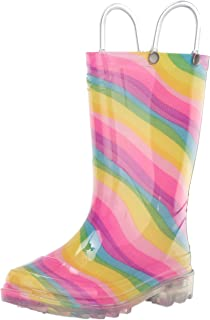 Girls' Waterproof Rain Boots That Light up with Each Step