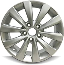 Road Ready Car Wheel For 2012-2015 Volkswagen Passat 2013-2019 Volkswagen Beetle 16 Inch 5 Lug Silver Aluminum Rim Fits R16 Tire - Exact OEM Replacement - Full-Size Spare