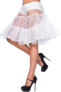 Women's Shimmer Organza Knee Length Petticoat Skirt