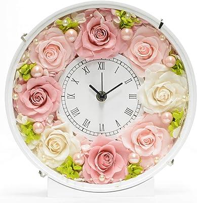 Lulu's ルルズ 花時計 ピンク プリザーブドフラワー サイズ幅24cm長さ8cm高さ24cm ピンク Lulu's-1279
