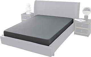 FARFALLAROSSA Parure de lit 2 places, drap-housse pour lit double, en microfibre, élastique pour toutes saisons, couleur u...