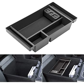 Red ABS Material Armrest Box Insert Tray CDEFG Center Console Accessory Organizer for 2019 2020 Blazer