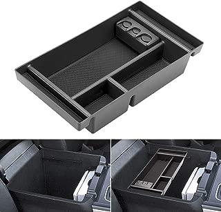 Center Console Organizer for 2019 Chevy Silverado 1500 / GMC Sierra 1500 Accessories ABS Tray Armrest Box Secondary Storage