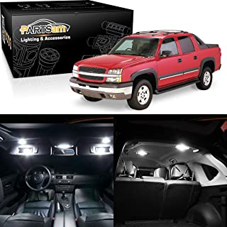 Partsam White Interior LED Light Package Kit Replacement Bulbs Compatible with Chevrolet Silverado 1999-2006 W/License Plate Light (11 Pieces)
