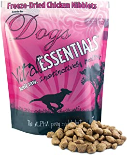 Vital Essentials Freeze Dried Chicken Nibblets Dog Food - All Natural Instinct - Raw - USA Only - All Life Stages - 1 lb Resealable Bag