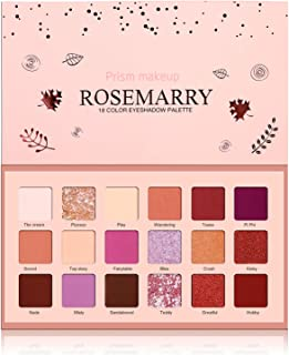 Prism Makeup ROSEMARRY 18 Colors Pigmented New Nude Eyeshadow Palette Matte Eyeshadow Makeup Pallet Warm Color Neutrals Long Lasting Shimmer Cosmetics